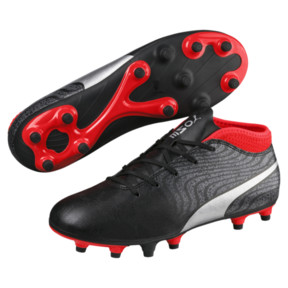 Thumbnail 2 of ONE 18.4 FG JR Soccer Cleats, Black-Silver-Red, medium