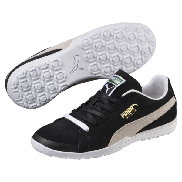 FUTURE Suede Men's Turf Football Boots, Black-White, large