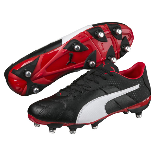 Esito C H8 Men's Rugby Boots, P Black-P White-H R Red, large