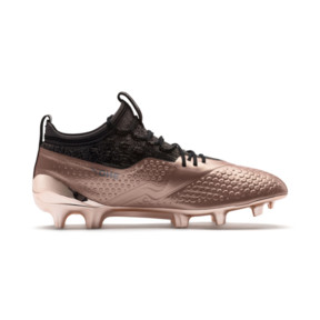 Thumbnail 5 of PUMA ONE 1 GLO FG/AG Men's Soccer Cleats, Rose Gold-Puma Black, medium