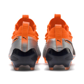 Thumbnail 4 of PUMA ONE 1 Leather FG/AG Men's Soccer Cleats, Silver-Orange-Black, medium