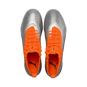 Thumbnail 7 of PUMA ONE 1 Leather FG/AG Men's Soccer Cleats, Silver-Orange-Black, medium