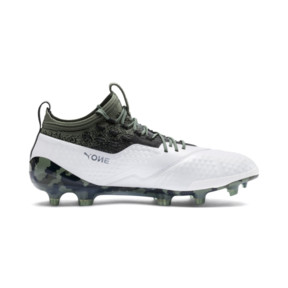 Thumbnail 5 of PUMA ONE 1 Leather FG/AG Men's Football Boots, White-Black-Laurel Wreath, medium