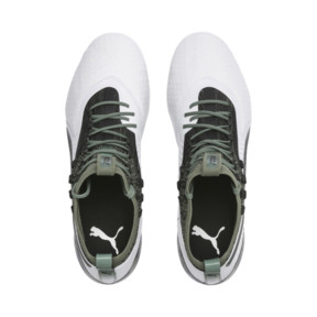 Thumbnail 6 of PUMA ONE 1 Leather FG/AG Men's Football Boots, White-Black-Laurel Wreath, medium