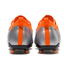 Thumbnail 4 of PUMA ONE 3 Leather FG Men's Soccer Cleats, Silver-Orange-Black, medium