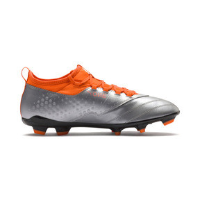 Thumbnail 5 of PUMA ONE 3 Leather FG Men's Soccer Cleats, Silver-Orange-Black, medium