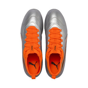 Thumbnail 6 of PUMA ONE 3 Leather FG Men's Soccer Cleats, Silver-Orange-Black, medium