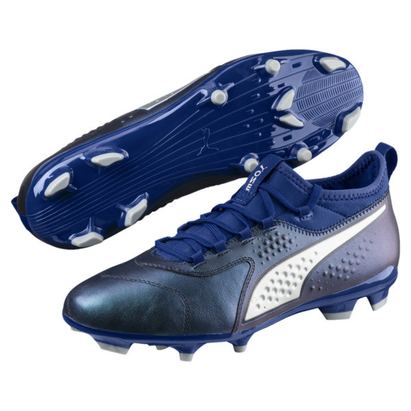 PUMA ONE 3 FG Men's Soccer Cleats, Sodalite Blue-Silver-Peacoat, large