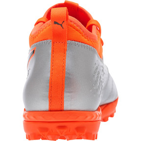 Thumbnail 4 of PUMA ONE 3 Lth TT Men's Soccer Cleats, Silver-Orange-Black, medium