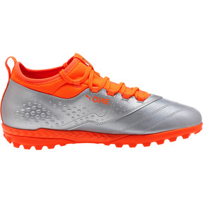 Thumbnail 3 of PUMA ONE 3 Lth TT Men's Soccer Cleats, Silver-Orange-Black, medium