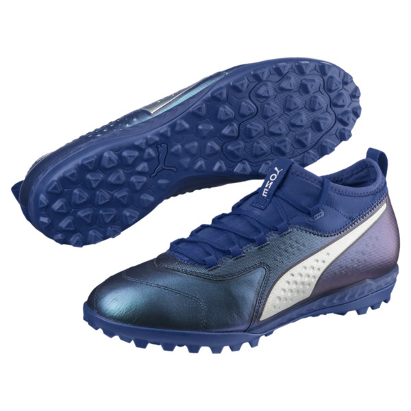 PUMA ONE 3 TT Men's Soccer Shoes, Sodalite Blue-Silver-Peacoat, large