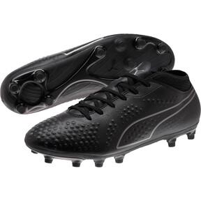 Thumbnail 2 of PUMA ONE 4 Synthetic FG Men's Soccer Cleats, Black-Black-Black, medium