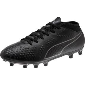 Thumbnail 1 of PUMA ONE 4 Synthetic FG Men's Soccer Cleats, Black-Black-Black, medium