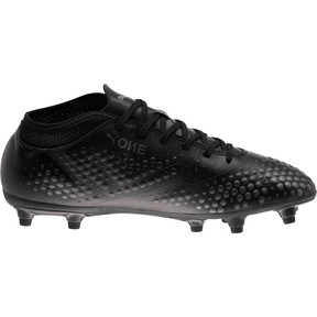 Thumbnail 3 of PUMA ONE 4 Synthetic FG Men's Soccer Cleats, Black-Black-Black, medium