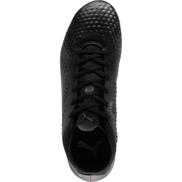 PUMA ONE 4 Synthetic FG Men's Soccer Cleats, Black-Black-Black, large