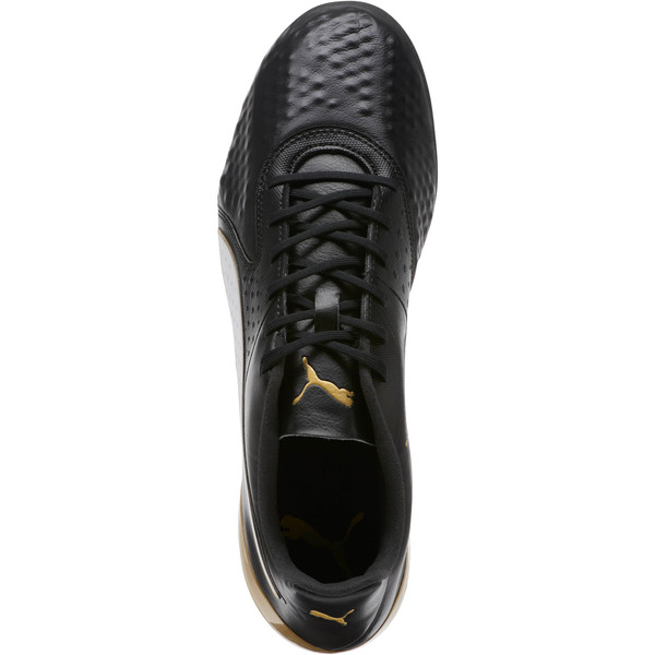 PUMA ONE 19.1 FG/AG Soccer Cleats, Black-White-Gold, large