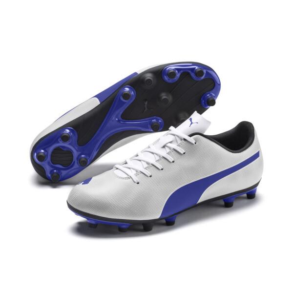 Rapido FG Men's Soccer Cleats, White-Royal Blue-Light Gray, large