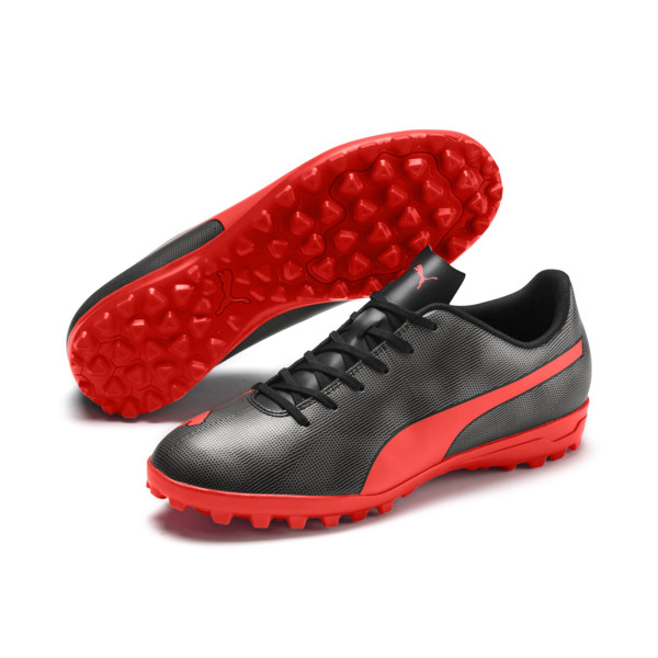 Rapido TT Men's Soccer Cleats, Black-Nrgy Red-Aged Silver, large