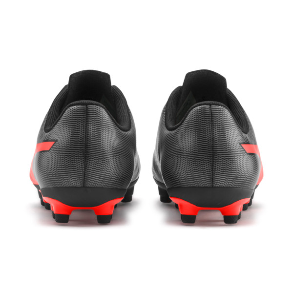Rapido FG Boy's Soccer Cleats JR, Black-Nrgy Red-Aged Silver, large