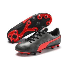Thumbnail 2 of Rapido FG Boy's Soccer Cleats JR, Black-Nrgy Red-Aged Silver, medium