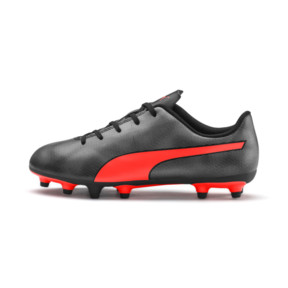Thumbnail 1 of Rapido FG Boy's Soccer Cleats JR, Black-Nrgy Red-Aged Silver, medium