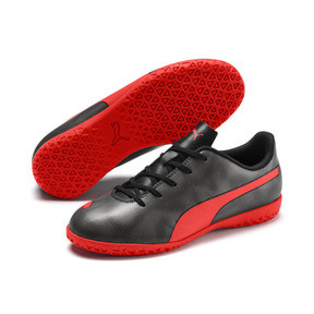 Thumbnail 2 of Rapido IT Boy's Soccer Shoes JR, Black-Nrgy Red-Aged Silver, medium