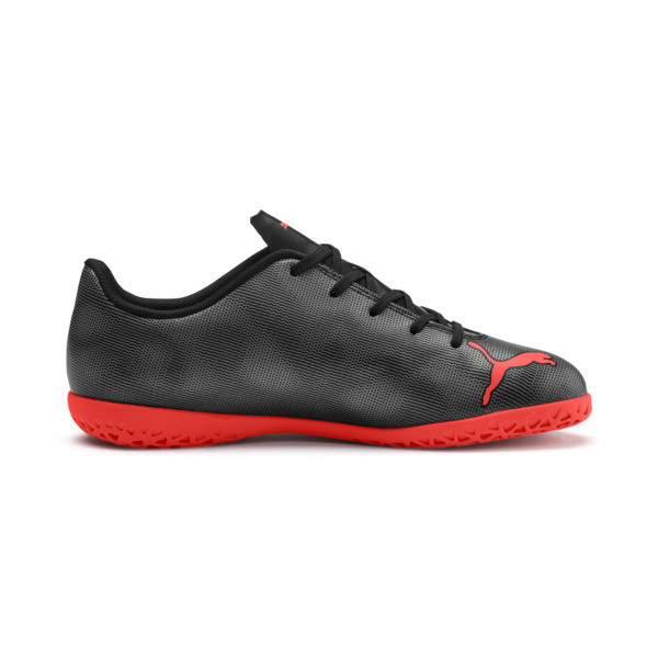 Rapido IT Boy's Soccer Shoes JR, Black-Nrgy Red-Aged Silver, large