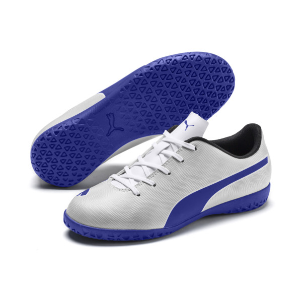 Rapido IT Boy's Soccer Shoes JR, White-Royal Blue-Light Gray, large