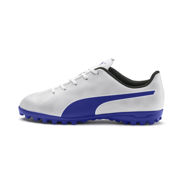 Rapido TT Boy's Soccer Cleats JR, White-Royal Blue-Light Gray, large