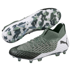 Thumbnail 2 of Chaussure de foot FUTURE 2.1 NETFIT FG/AG pour homme, Laurel Wreath-White-Black, medium