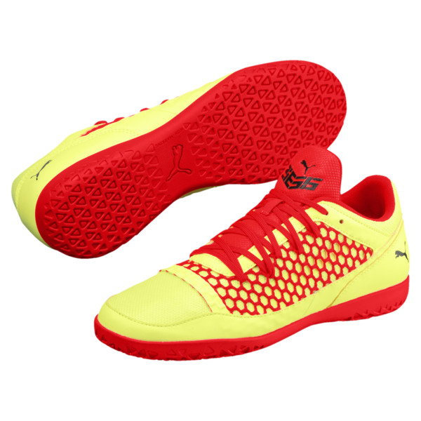 365 NETFIT CT Men's Court Training Shoes, Yellow-Red-Black, large