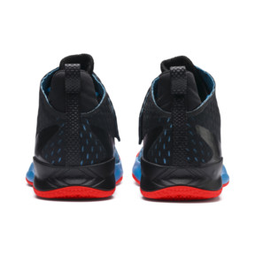 Thumbnail 3 of Rise XT FUSE 1 Indoor Training Shoes, Bleu Azur-Red Blast-Black, medium