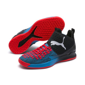 Thumbnail 2 of Rise XT FUSE 1 Indoor Training Shoes, Bleu Azur-Red Blast-Black, medium