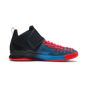 Thumbnail 5 of Rise XT FUSE 1 Indoor Training Shoes, Bleu Azur-Red Blast-Black, medium