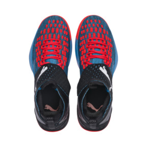 Thumbnail 6 of Rise XT FUSE 1 Indoor Training Shoes, Bleu Azur-Red Blast-Black, medium