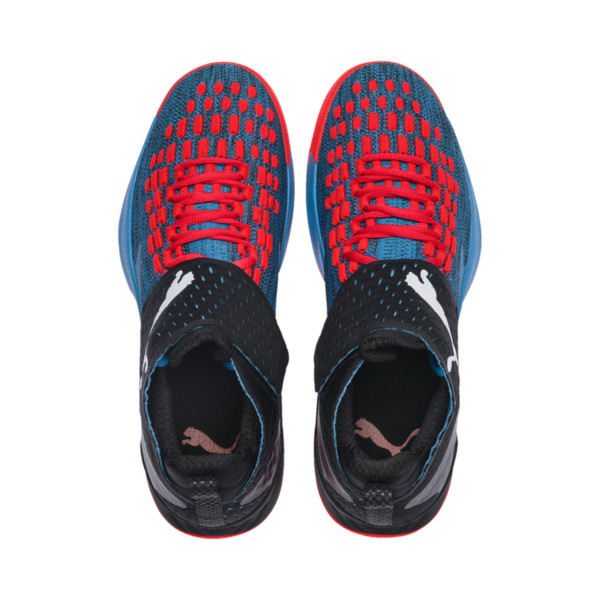Rise XT FUSE 1 Indoor Training Shoes, Bleu Azur-Red Blast-Black, large