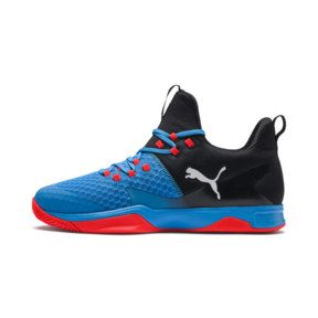 Thumbnail 1 of Rise XT 3 Indoor Teamsport Shoes, Bleu Azur-Red Blast-Black, medium