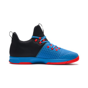 Thumbnail 5 of Rise XT 3 Indoor Teamsport Shoes, Bleu Azur-Red Blast-Black, medium