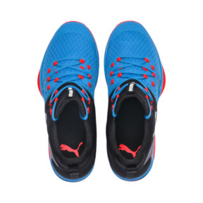 Thumbnail 6 of Rise XT 3 Indoor Teamsport Shoes, Bleu Azur-Red Blast-Black, medium