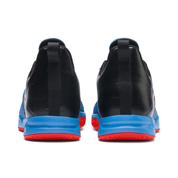 Rise XT 4 Indoor Training Shoes, Bleu Azur-Red Blast-Black, large