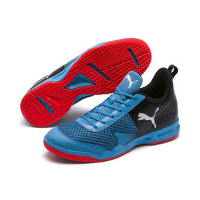Thumbnail 2 of Rise XT 4 Indoor Training Shoes, Bleu Azur-Red Blast-Black, medium