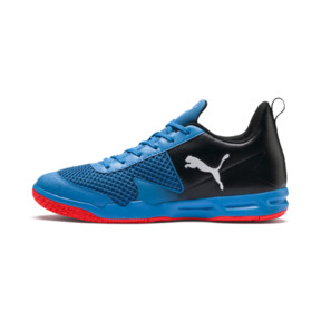 Thumbnail 1 of Rise XT 4 Indoor Training Shoes, Bleu Azur-Red Blast-Black, medium