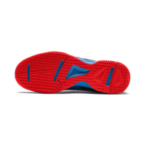 Thumbnail 4 of Rise XT 4 Indoor Training Shoes, Bleu Azur-Red Blast-Black, medium