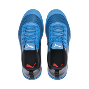 Thumbnail 6 of Rise XT 4 Indoor Training Shoes, Bleu Azur-Red Blast-Black, medium