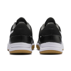 Thumbnail 3 of Tenaz Indoor Teamsport Shoes, Black-White-Iron Gate-Gum, medium