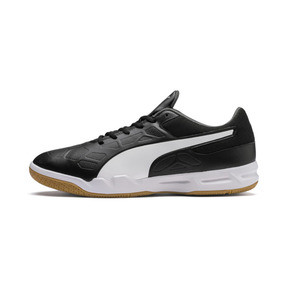Thumbnail 1 of Tenaz Indoor Teamsport Shoes, Black-White-Iron Gate-Gum, medium