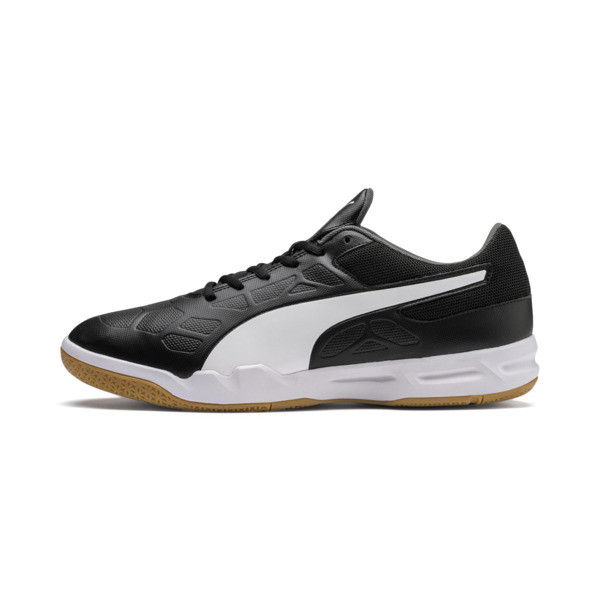 Tenaz Indoor Teamsport Shoes, Black-White-Iron Gate-Gum, large