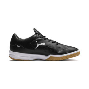 Thumbnail 5 of Tenaz Indoor Teamsport Shoes, Black-White-Iron Gate-Gum, medium