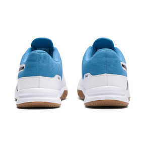 Thumbnail 3 of Tenaz Indoor Teamsport Shoes, White-Black-Bleu Azur-Gum, medium