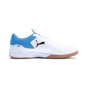 Thumbnail 5 of Tenaz Indoor Teamsport Shoes, White-Black-Bleu Azur-Gum, medium
